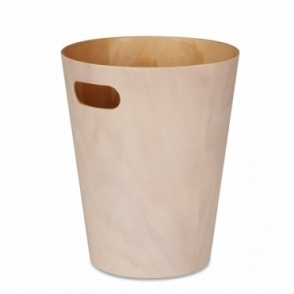 Woodrow Can White / Natural Waste Paper Bin