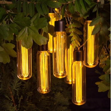 Valve Style Edison Bulb Warm White LED String Lights - Battery Operated