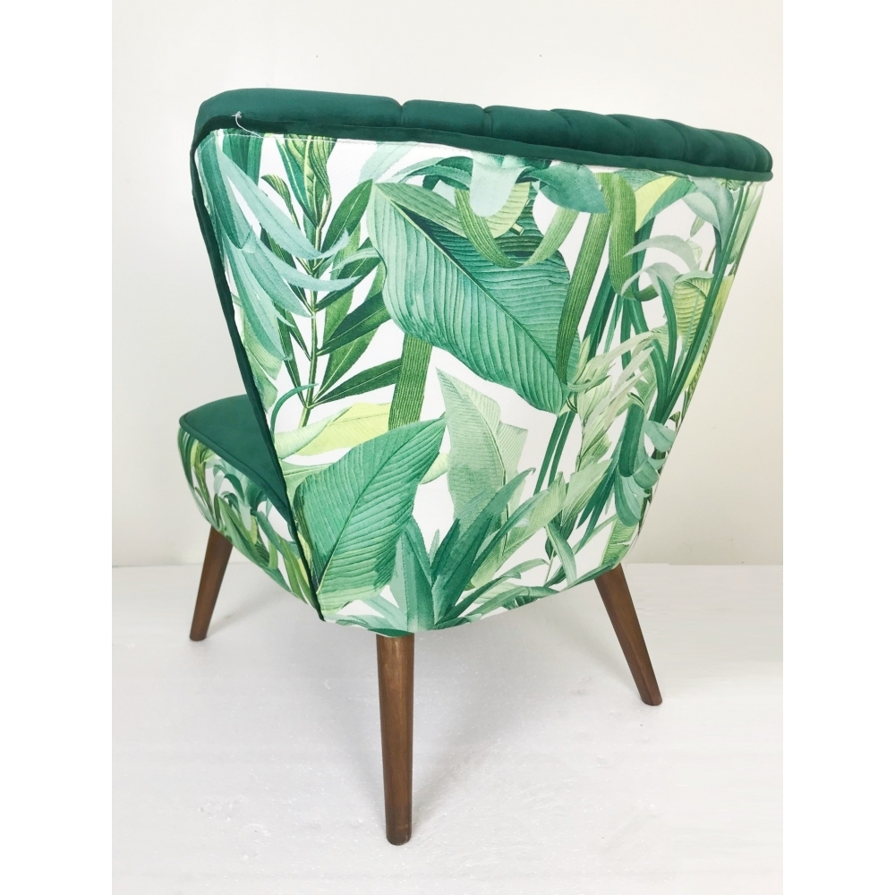 velvet tropical palm occasional chair green hurn and hurn