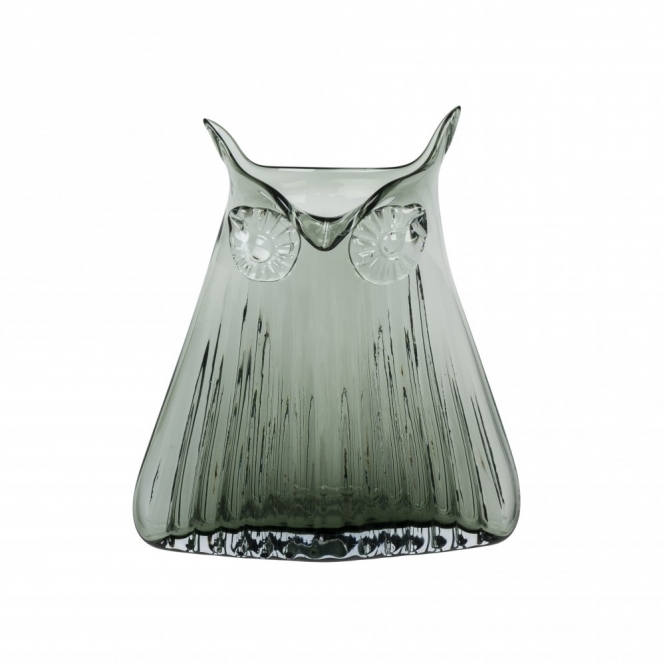 Vern Owl Vase Smoke Grey Large