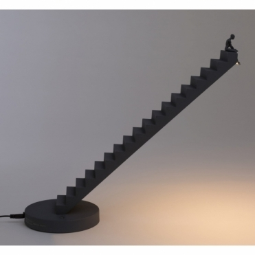 Verso Man On Stairs Table Lamp - Anthracite