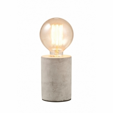 Vintage Concrete Tubular Table Lamp
