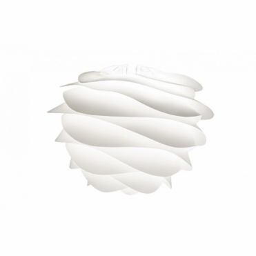 Carmina Medium White Ceiling Pendant / Floor Lamp Light Shade