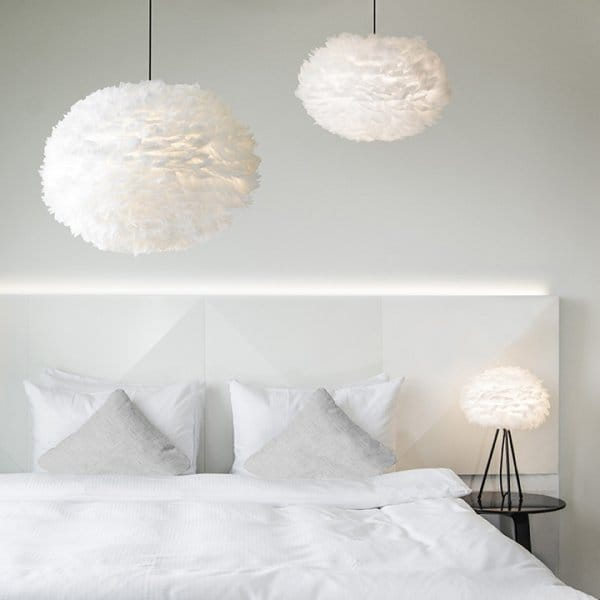 vita copenhagen eos extra large light shade feather lampshade. Black Bedroom Furniture Sets. Home Design Ideas