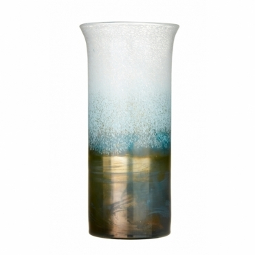 Khione Tall Vase - Frost & Gold