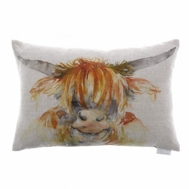 Angus Rectangular Cushion - Highland Cow