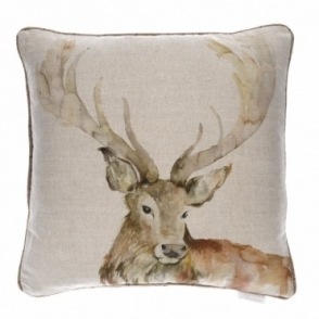 Gregor Linen Square Cushion 50cm - Stag