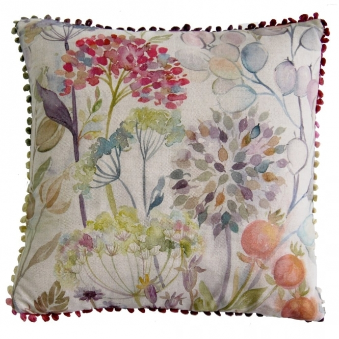 Voyage Maison Country Hedgerow Square Linen Cushion 43cm