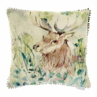 Oak View Square 50cm Cushion - Stag