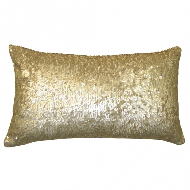 Voyage Maison Couture Aquilla Sequin Rectangular Cushion - Gold