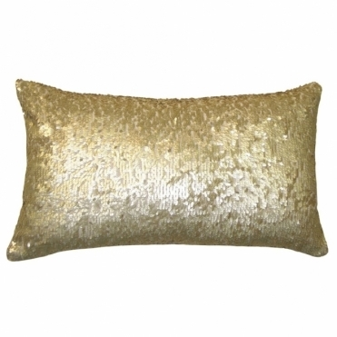 Aquilla Sequin Rectangular Cushion - Gold