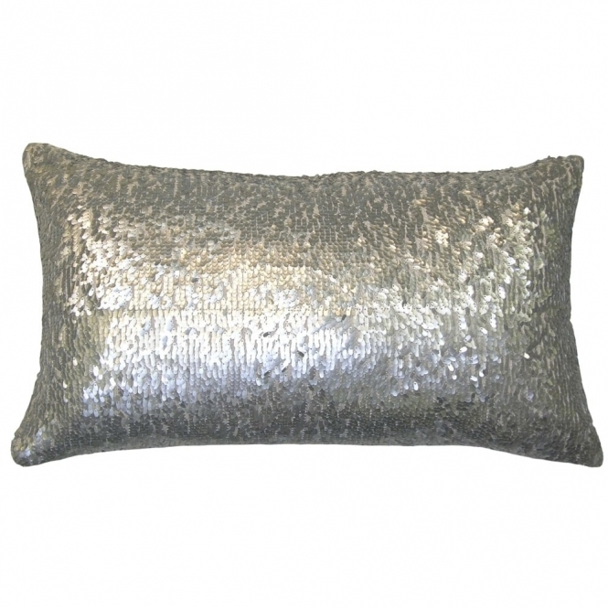 Voyage Maison Couture Aquilla Sequin Rectangular Cushion - Silver