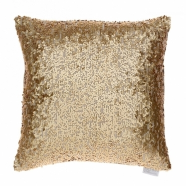 Aquilla Sequin Square Cushion - Gold
