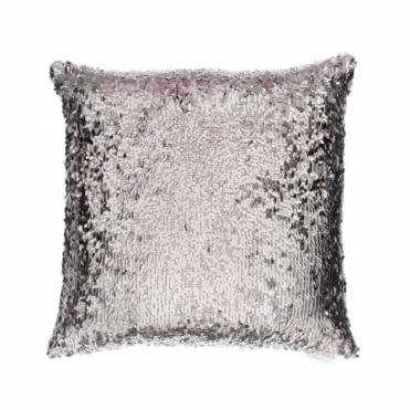 Aquilla Sequin Square Cushion - Platinum