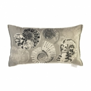 Fossilium Rectangular Cushion - Grey