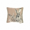 Voyage Maison Natural History Hare Square Cushion - Blush