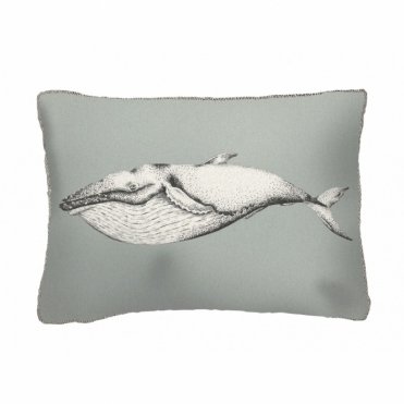 Humpback Whale Rectangular Cushion - Small