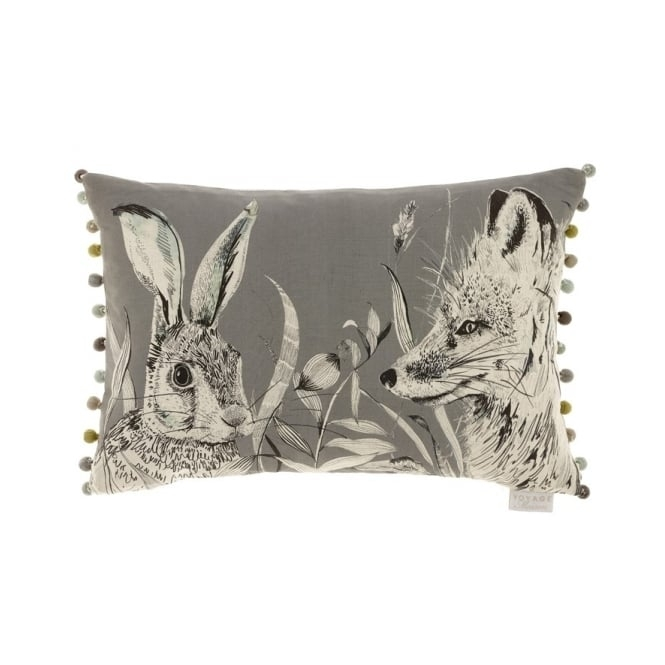 Voyage Maison Natural History Hunt Charcoal Rectangular Cushion - Hare & Fox