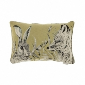 Hunt Mustard Rectangular Cushion - Hare & Fox