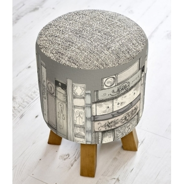 Library Books Monty Stool - Charcoal
