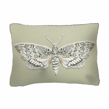 Nocturnal Moth Rectangular Cushion - Small