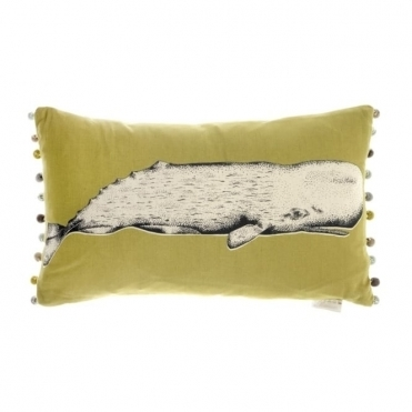 Oceanic Whale Rectangular Cushion