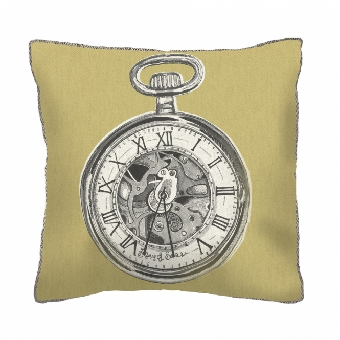 Voyage Maison Natural History Pocket Watch Square Cushion - Small