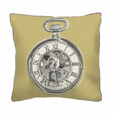 Pocket Watch Square Cushion - Small