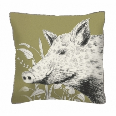 Wild Boar Square Cushion - Small