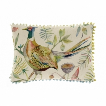 Autumn Pheasant Rectangular Cushion - Small