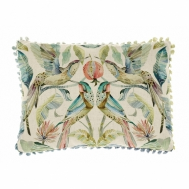 Colyford Hummingbirds Rectangular Cushion - Small