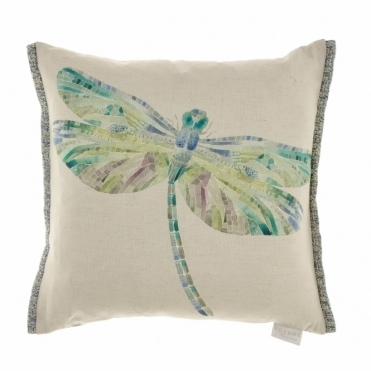 Dragonfly Skylark Square Cushion