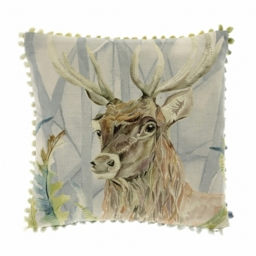 Holberton Stag Square Cushion - Small