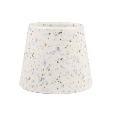 White Porcelain Candle 14oz - Saltwater & Lily