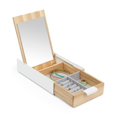 White Reflexion Jewellery Storage Box