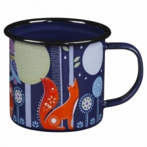 Blue Enamel Mugs - Set of 2