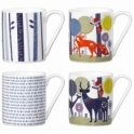 Wild & Wolf Folklore Ceramic Mugs - Set of 4