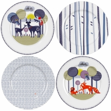 Ceramic Plates - Set of 4