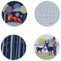 Wild & Wolf Folklore Coasters - Set of 4