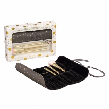 Makeup Brush Roll Set - Gift Box