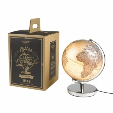 Illuminated Light Up Globe Lamp
