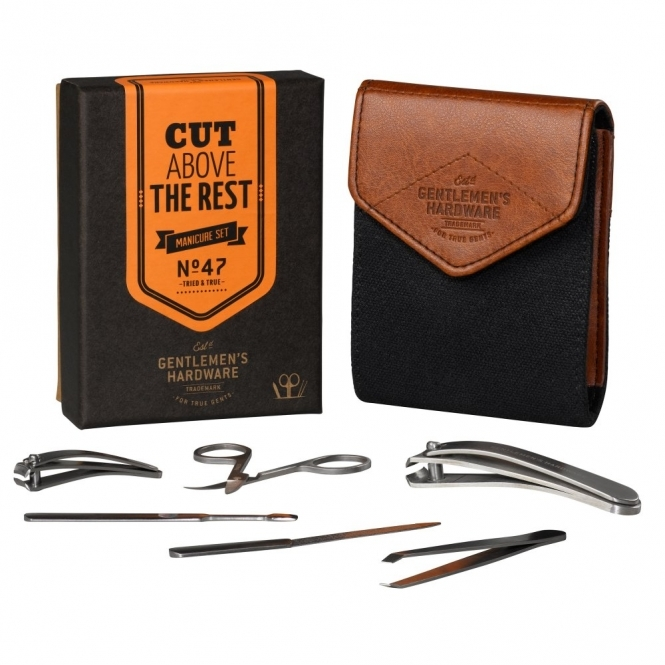 Manicure Set Charcoal in Gift Box