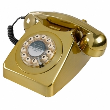746 Brass Brushed Telephone Retro Phone