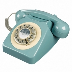 Retro 746 Push Button Telephone French Blue Phone