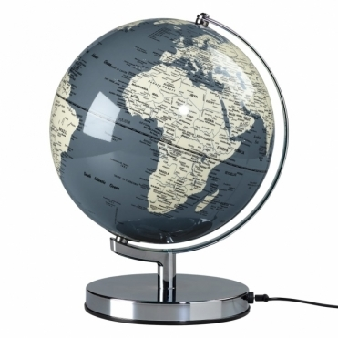 "Illuminated LED Globe Light 10"" - Concrete Grey"