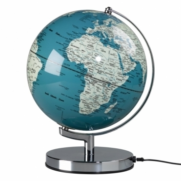 "Illuminated LED Globe Light 10"" French Blue"
