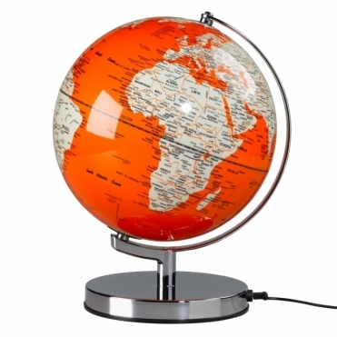 "Illuminated LED Globe Light 10"" Goldfish Orange"