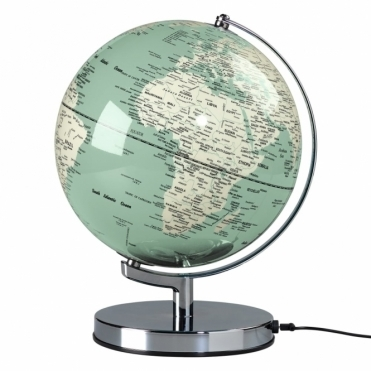 "Illuminated LED Globe Light 10"" - Swedish Green"