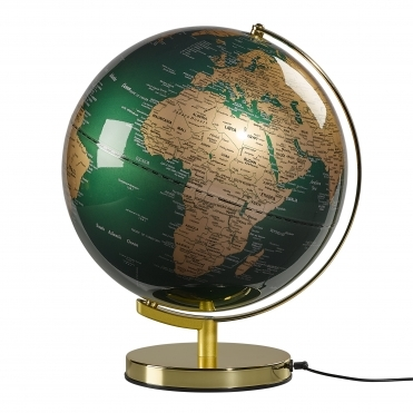 Illuminated LED Light Up Globe Lamp 12