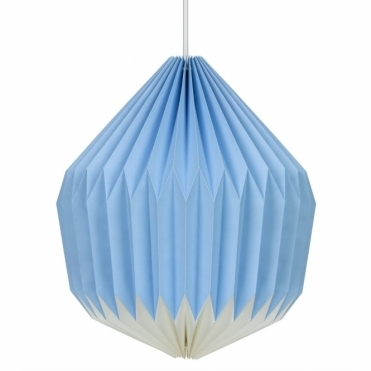 Paper Lampshade - Cornflower Blue